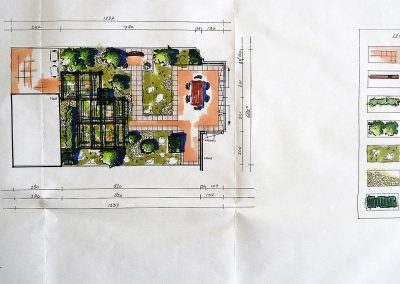 kleine stadstuin ontwerp rechthoekig